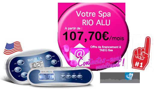 credit pour votre spa Rio Alu teck (3 places)