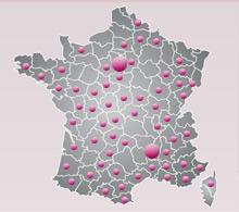 Carte de France - Tropicspa